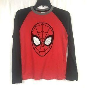 New Marvel Spiderman Boys Long Sleeve Shirt